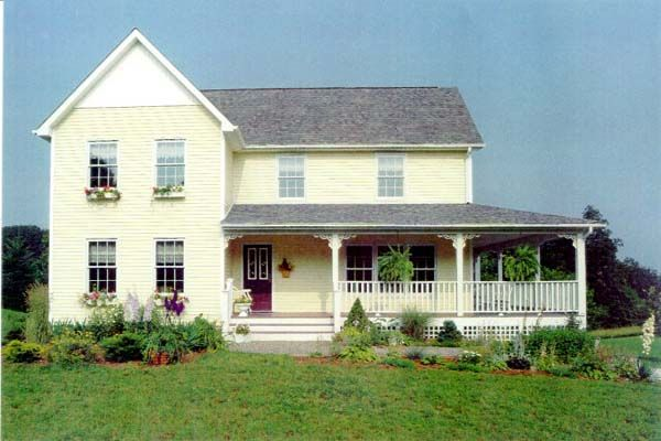Country Farmhouse House Plan 41014