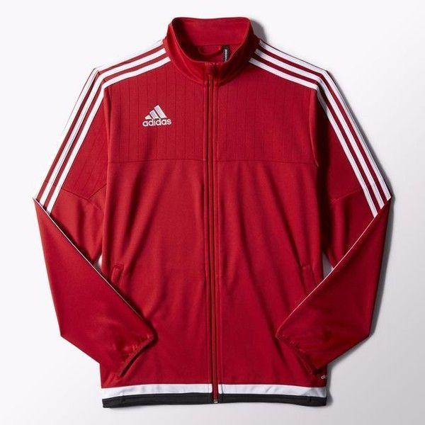 adidas Tiro 15 Training Jacket ($65) ❤ liked on Polyvore featuring men's fashion, men's clothing, men's activewear, men's activewear jackets and mens activewear