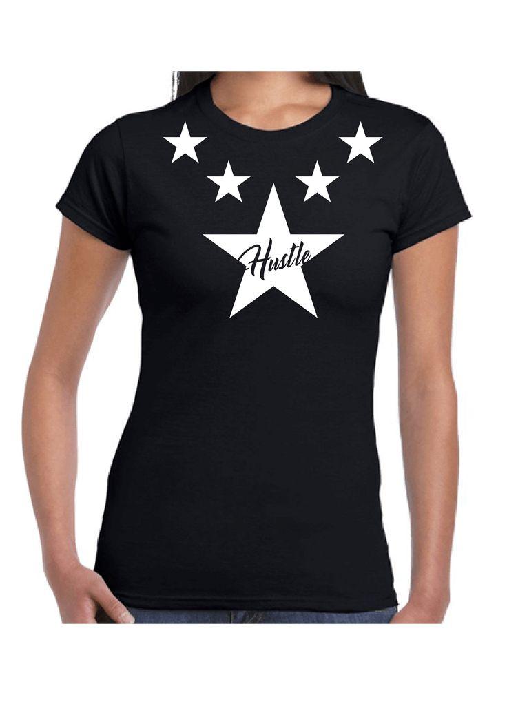 Hustle T-Shirt Black Ladies