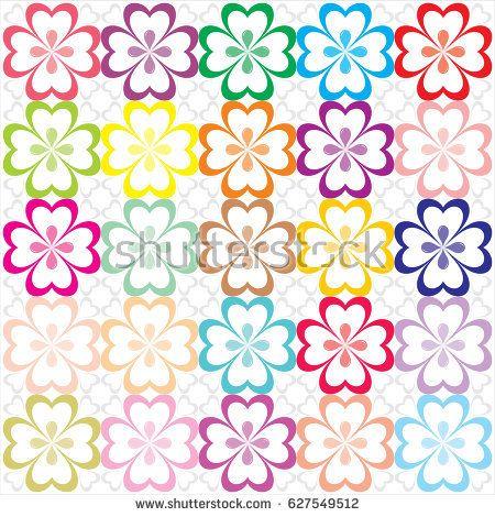 multicolor flower pattern vector format