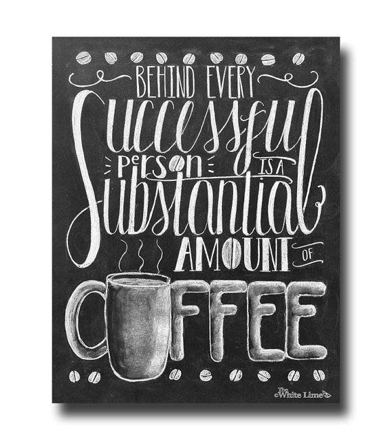 Coffee Art Print Coffee Sign Coffee Lover por TheWhiteLime en Etsy