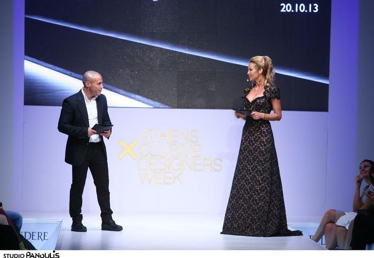 Mike Zambidis & Tonia Fouseki presenting New Designers Awards Ceremony!