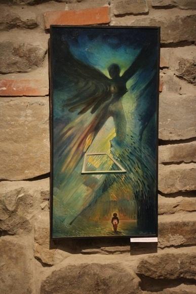 80 cm x 40 cm obraz olejny/ oil painting by Leszek Gesiorski