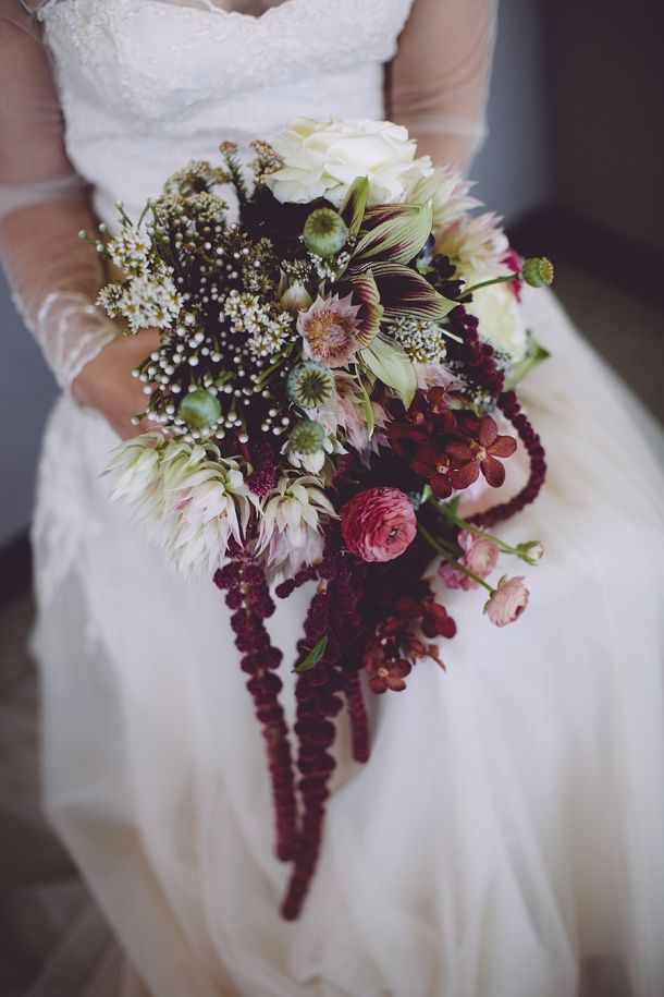 Amazing Jewel Tone Wedding Bouquet | SouthBound Bride www.southboundbride.com/organic-jewel-tone-wedding-at-roodezand-by-heather-steyn-photography-yolandi-benjamin  Credit: Heather Steyn