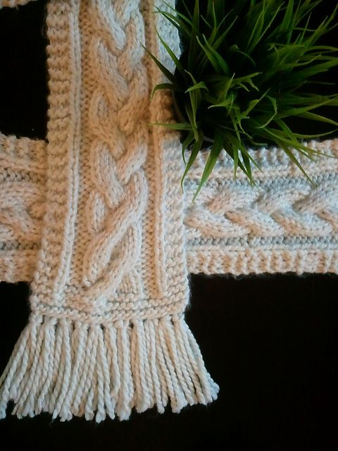 Ravelry: Thunder-Snow Cable Scarf (Braided) pattern by Joy T. Bradley