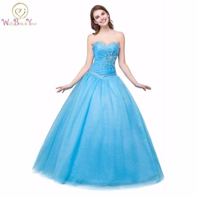 100% Imagens Reais Princesa Quinceanera Vestidos Vestidos de Baile de Coral Verde Azul Vestidos Da Menina De Cristal Lace-up Andar de Comprimento Prom vestidos