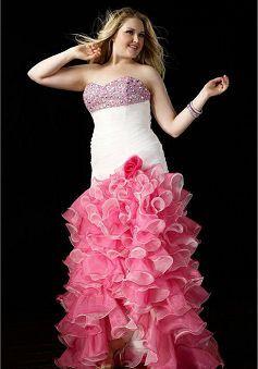 Plus Size Organza Mermaid Prom Dress