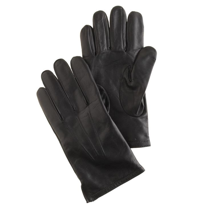 Men's cashmere-lined leather smartphone gloves, $98