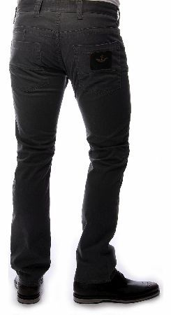 Armani Jeans J08 Brush Cotton Jeans Armani Jeans Brush Cotton Jeans a grey  -denim straight leg fit with a four button closure with branded buttons concealed under the crotch they feature belt loops and a cream band around the waist o http://www.comparestoreprices.co.uk/designer-clothing/armani-jeans-j08-brush-cotton-jeans.asp
