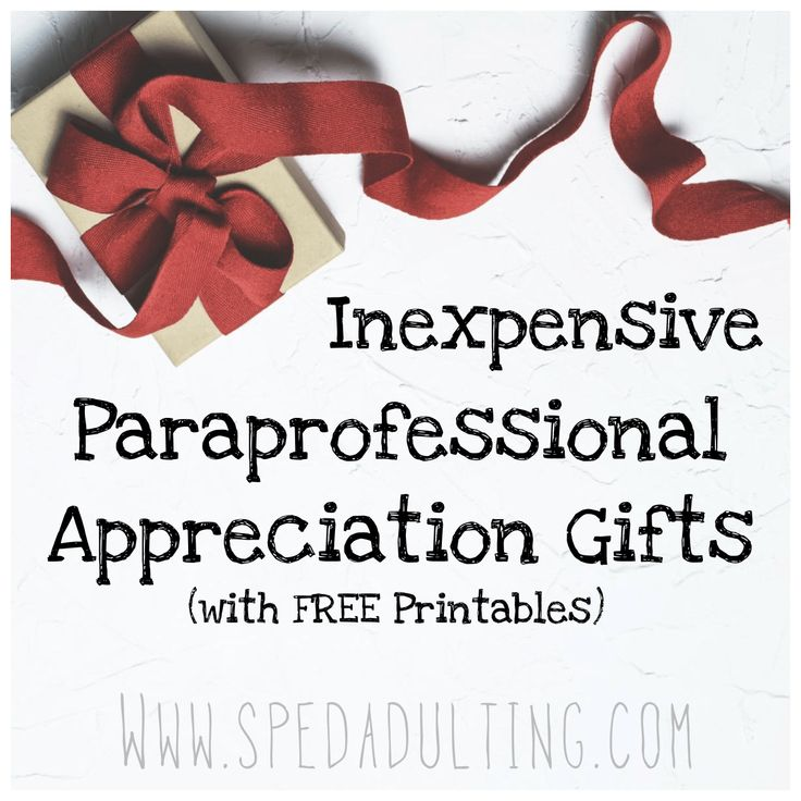 Whether it's the end of the year, Thanksgiving, or paraprofessional appreciation day, you'll want to show your paraprofessionals how much you appreciate them! A little gift and go a lon…