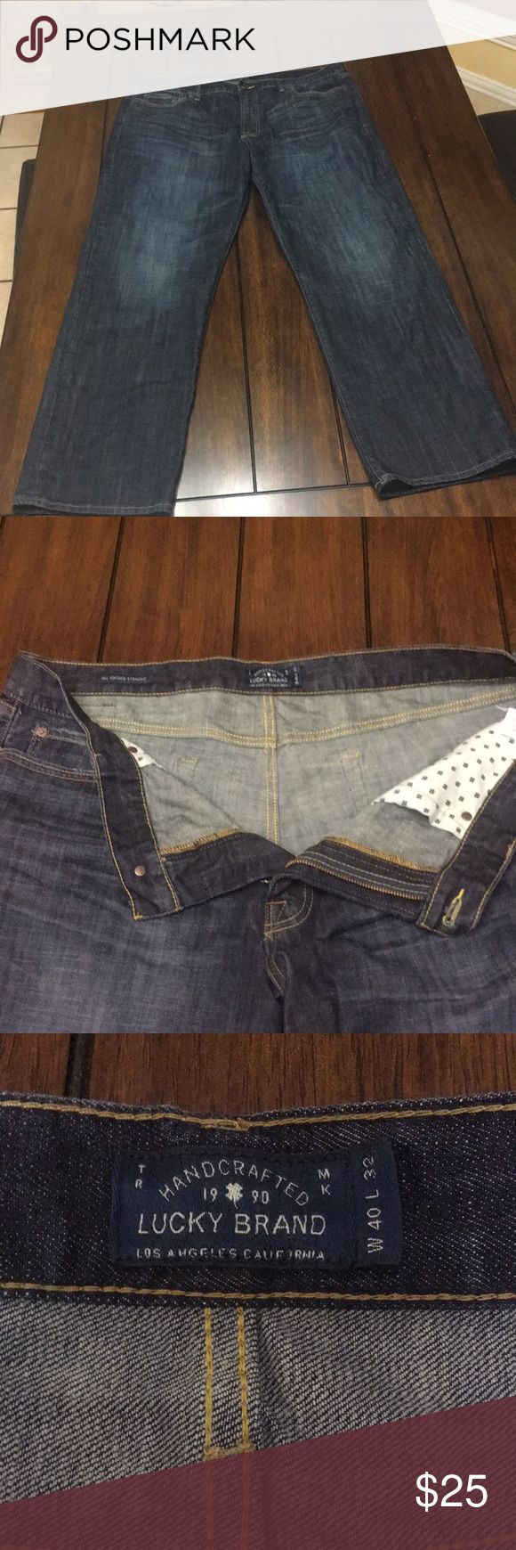 Lucky Brand Mens Jeans Lucky Brand Vintage Straight Jeans. Size 40WX32L. In good used condition. Lucky Brand Jeans Straight