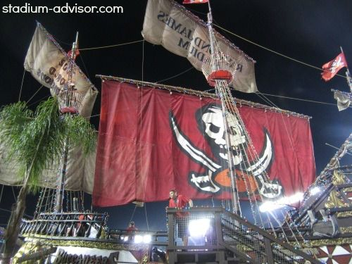 Check out the pirate ship when you visit Raymond James Stadium. See the Bucs schedule at http://www.stadium-advisor.com/tampa-bay-buccaneers-schedule.html