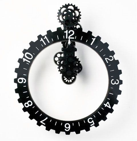 Bezel Gear Clock: Ideas, Metal, Big Wheel, Focal Point, Eye Catching, Wall Clocks, Gears