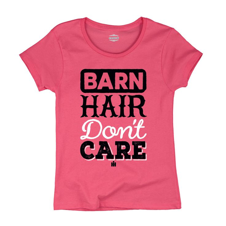 Even if your hair needs a little work, you'll still look amazing in this adorable pink Case IH licensed Barn Hair Don't Care t-shirt. Great gift for a female farmer, equestrian, rancher, anyone! Produ