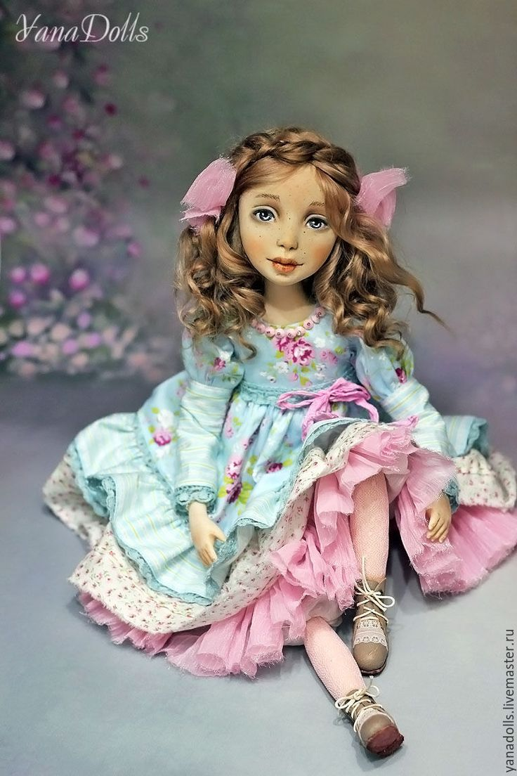 Art doll Adele - blue, handmade doll, doll, doll as a gift, doll interior