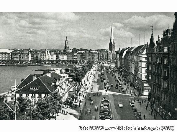 Jungfernstieg vor dem Kriege, Jungfernstieg, Hamburg (1938)