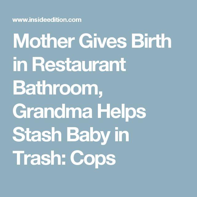 The 25 best restaurant bathroom ideas on pinterest for Giving birth in bathroom