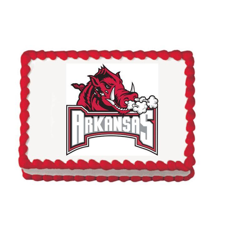 Arkansas Razorbacks Edible Cake, Cupcake & Cookie Topper