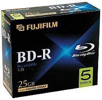 Fujifilm Blu-ray Discs w/ Jewel Cases - 25GB 5 pk.