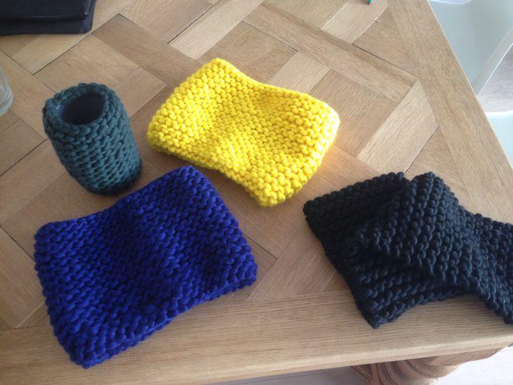 Snood écharpe et vase en tricot wool and the gang