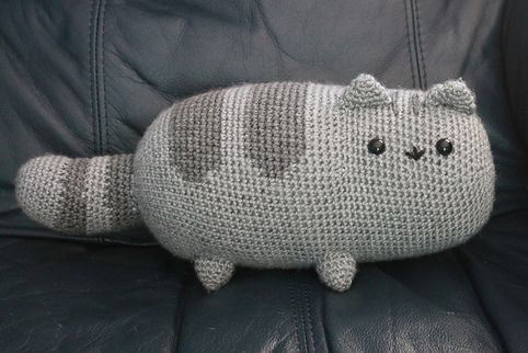 DIY Crochet Pusheen the Cat | Free Pattern from Emma's Animal Creations.