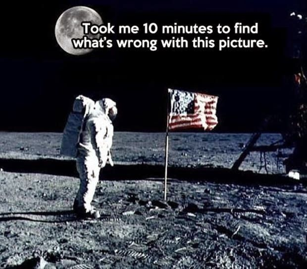 Wrong Lunar Landing Moon Cospiracy | Funny Joke Pictures