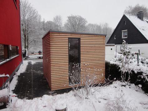 17 Best Ideas About Gartenhaus Flachdach Modern On Pinterest ... Blockbohlenhaus Im Garten Funktional Ausenbereich