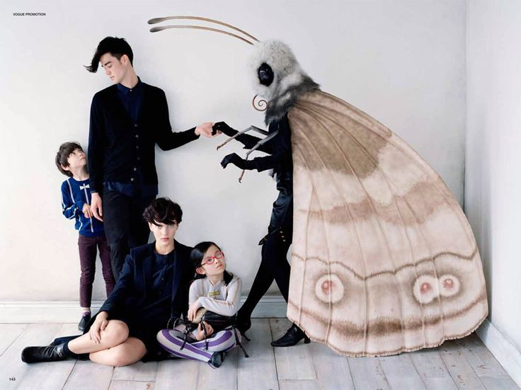 Japanese Vogue for Uniqlo photographed by Tim Walker amazing props by Rhea Thierstien