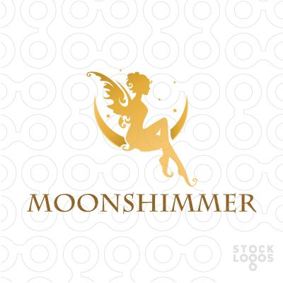 beautiful fairy princess http://stocklogos.com/logo/moon-shimmer-fairy #logo