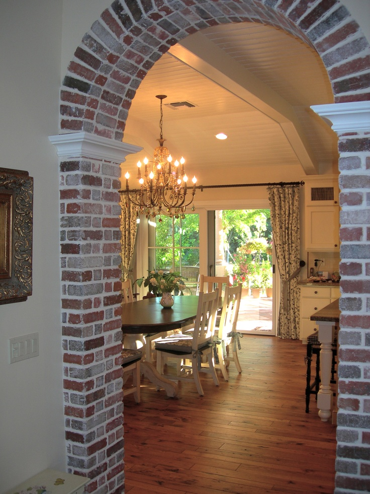 1000 ideas about brick arch on pinterest brick archway for Interior wall arches