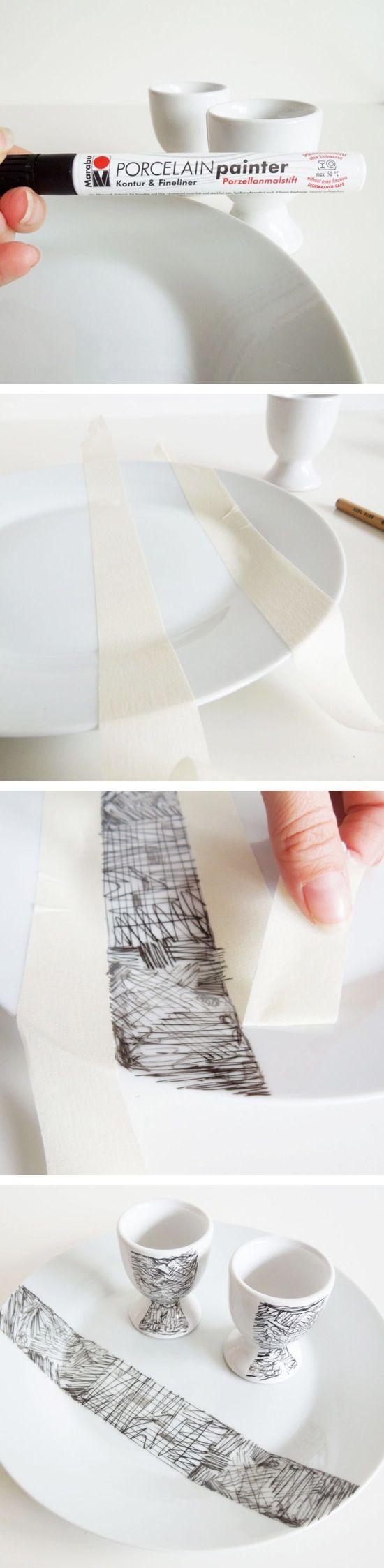 Caneta para decorar porcelana