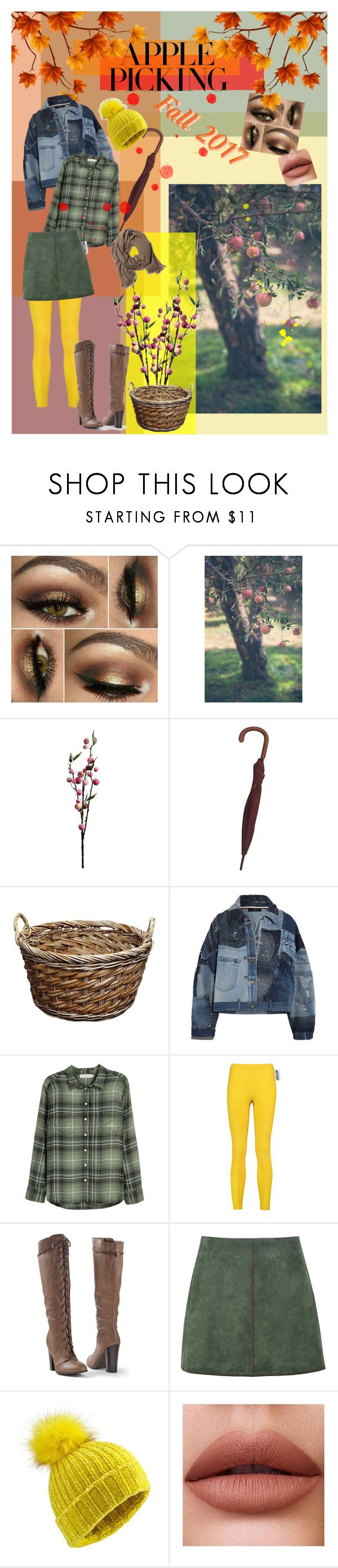 """""""Apple Picking: Fall 2017"""" by seattlesky ❤ liked on Polyvore featuring Wyld Home, Gucci, Dolce&Gabbana, H&M, Moschino, Venus, George J. Love and Miss Selfridge"""