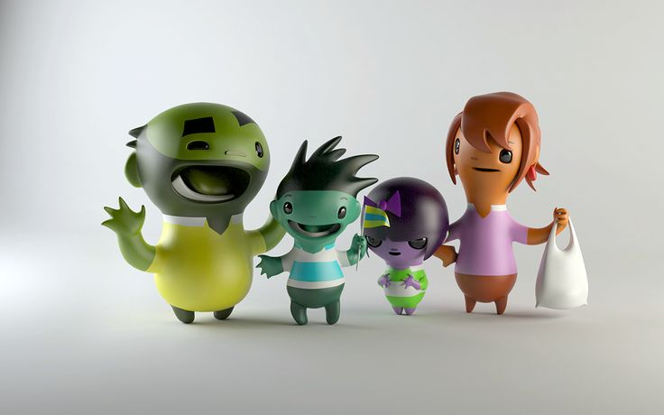 Piranha Bar Characters on Character Design Served