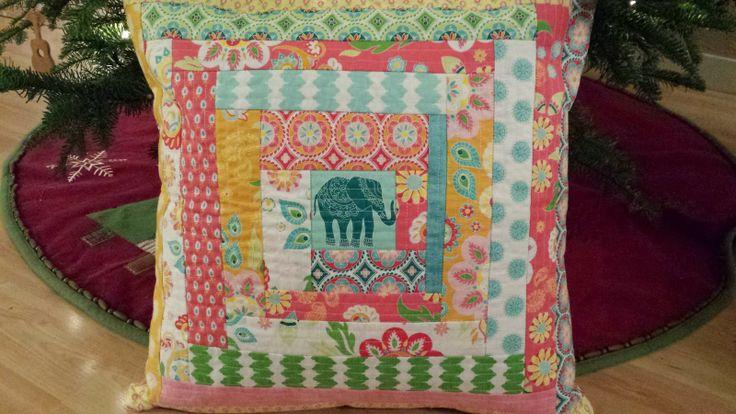 Quilt-As-You-Go Madhuri pillow