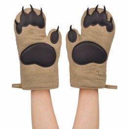 Bear Hands - Oven Mitts - rękawice kuchenne w formie niedźwiedzich łap