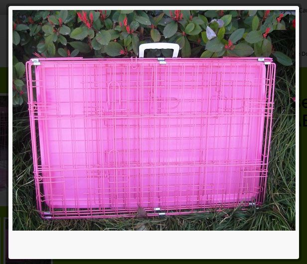 24″ #Pink #Pet #Folding #Suitcase #Dog #Cat #Crate #Cage #Kennel #Pen w/ABS #Tray http://house4pets.com/product/24-two-door-pink-folding-crate-cage-kennel-lc-abs/  #USA #WestLinn #Oregon