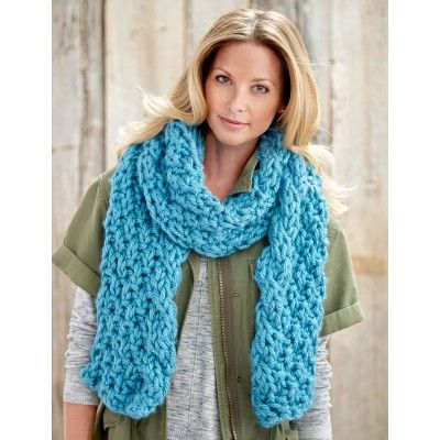 Free Knitting Patterns For Scarves Pinterest : Cable Edge Scarf/ very pretty/ FREE KNITTED pattern/ intermediate I LUV SCA...