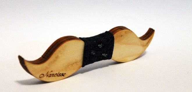 Aube - Papillon in legno