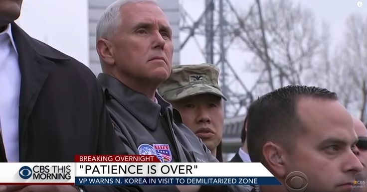 Vice President Mike Pence Lays Down the Law on North Korea
