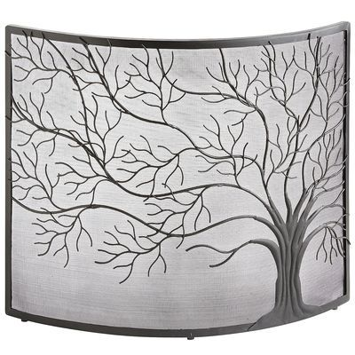 Let this 100% iron screen take root in front of your fireplace. Rust-resistant and powder-coated, it shields you from wild sparks and embers. Moreover, the branches of its hand-forged tree design really come to life in front of a glowing fire.