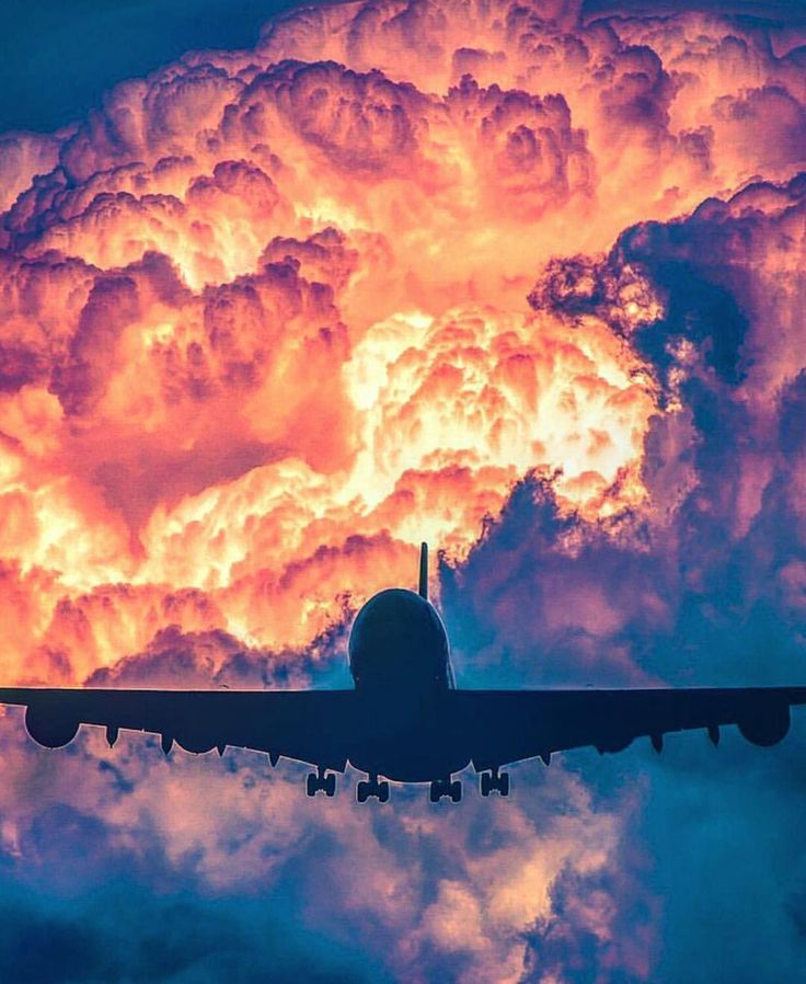 """5,332 Likes, 22 Comments - Planes of Instagram™ (@insta.plane) on Instagram: """"Just an A380 flying in front of towering cumulonimbus clouds. Impressive view! Shot by…"""""""