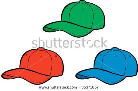 Baseball cap different colors isolated on white background #baseballcap #cartoon #illustration