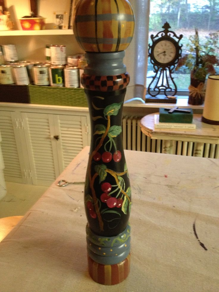 Painted pepper mill from Cosco!