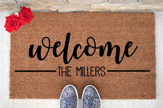 Personalized Welcome Doormat Welcome Mat Welcome Door Mat
