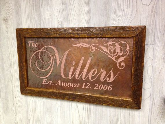 13 Year Wedding Anniversary Gifts For Him: Copper Anniversary Gift Personalized Copper Sign