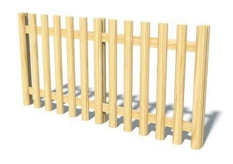 Half-Round Log Fencing
