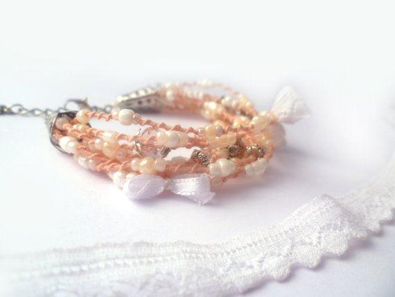 Wedding bracelet Pinkashes of rose color by Hamelin