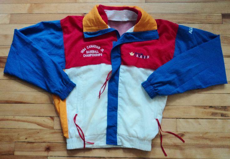 Vintage 1994 Baseball Championships Molson Canadian Large Windbreaker Jacket VTG by StreetwearAndVintage on Etsy