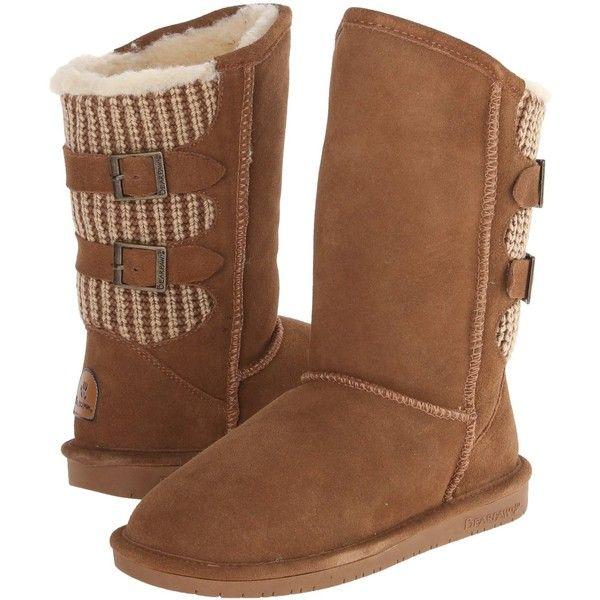 BEARPAW Women's Boshie Snow Boot ($65) ❤ liked on Polyvore featuring shoes, boots, bearpaw shoes, bearpaw, snow boots, bearpaw footwear and bearpaw boots
