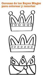 Resultado de imagen para los tres reyes magos de papel con forma de triangular